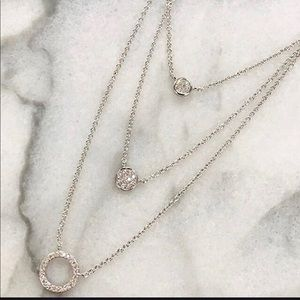 ZokyDoky Jewelry - Sterling Silver Trio Of CZ Circle Layers,NWT